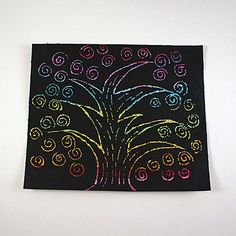 Scratch Art Rainbow Tree by Amanda Formaro for Spoonful