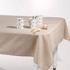 Nappe beige pailleté 140 x 250 cm ÉTINCELLE