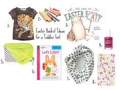 Easter Basket Ideas for Toddlers + non-candy fillers for plastic eggs - I'm trying my best to stay away from candy this year.  My annual go-to's are: swimsuit flip-flops/sandals sunglasses or goggles hat/cap 1 book and/or movie I've added sidewalk chalk and bubbles for the toddler this year but need to fill the eggs with non-candy items too.  Stickers? Squinkies? Calico Critters? Cars? Goldfish?  Hmm...