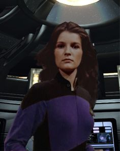 Ensign Janeway, Science Officer on the Al-Battani.