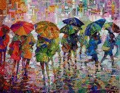 Rain II- Danny Amazonas | Art Quilts