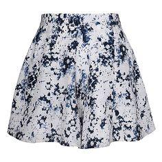 Olive + Oak Coachellaaa Skort (385351901) found on Polyvore featuring skirts, mini skirts, bottoms, faldas, skort, navy combo, multi colored skirt, multicolor skirt, floral printed skirt and multi color skirt