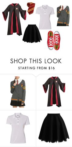 """""""Olivia First Year Uniform"""" by bookprincess-313 on Polyvore featuring Warner Bros., Gildan and Converse"""
