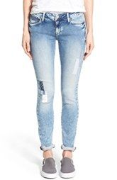 Mavi Jeans 'Alexa' Knit Skinny Jeans (Patched Out Sporty)
