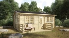 BUDGET ONE BED B LOG CABIN x Free shingle roof tiles, damp proof membrane and free floor insulation. Delivered by loghouse. Residential Log Cabins, Roof Boards, Log Cabin Exterior, Log Cabins For Sale, Floor Insulation, One Bed, Double Glazed Window, Roof Tiles, Internal Doors