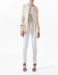 zipped blazer, Zara
