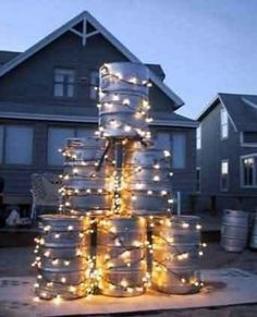 alternative christmas tree christmas lights funny christmas tree christmas beer redneck christmas unusual christmas trees christmas humor christmas