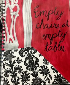 "Visual Journals #5 - Intro Art - ""Take a Seat - Chair Art"" - NGHS Room 406"
