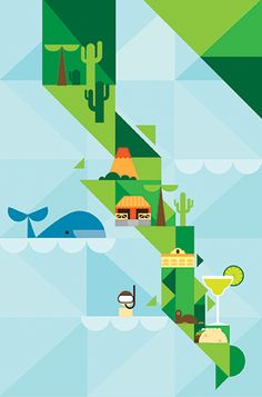Baja California (México) Patrick Hruby Illustration