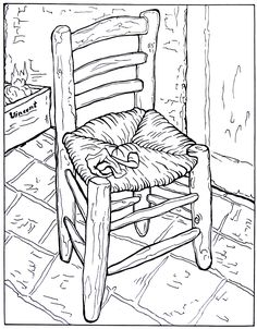 126 best Great Works of Art Coloring Book Pages images on Pinterest ...