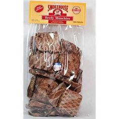 SMOKEHOUSE 1LB BEEF MUNCHIES BEEF LUNGS - BD Luxe Dogs & Supplies