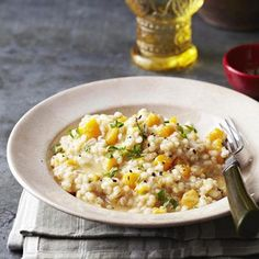 This creamy, comforting dish is healthy, too. Full of fiber and essential nutrients, this barley-based risotto is just as delicious and satisfying as the original Italian favorite.