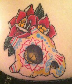 Cubone Sugar Skull by Steve @ Brass Anchor Tattoo Lounge in Halifax, NS