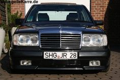 Mercedes W124 with AMG front bumper, Euro Headlights and Avantgarde grille.