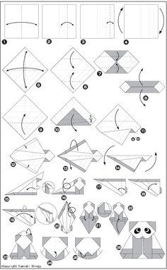 origami a ninja  face  instructions