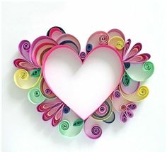 Paper Hearts Art - The Beauty Of Paper Quilling Art Quilling Instructions, Paper Quilling Tutorial, Paper Quilling Cards, Paper Quilling Patterns, Quilled Paper Art, Diy Paper, Paper Crafting, Quilling Ideas, Diy Quilling Crafts