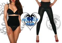 Purchase Waist Cincher Women's Corset Black and Nude (M, L) with SODACODA Women's Slimming Leggings With Booty Forming And Stomach Control Black (M-L)  For the complete, full body shaping and slimming! E.g. Wear these leggings with the waist cincher and a fitted long top or dress for the look of a great body and legs without looking like you are wearing shapewear! www.sodacoda.com