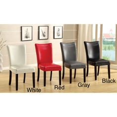 Classic Modren Faux Leather Dining Accent Side Chair Set (2) New GREY GRAY