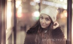 Street photography of a girl in Leicester city centre at night. FB: /peter.alvey.photographer