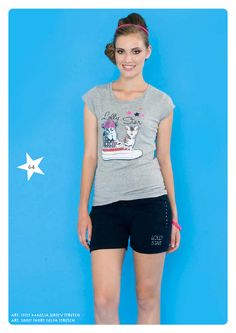 #Tshirt jersey stretch e #shorts #felpa stretch #LollyStar - Scopri tutta la collezione qui --> http://www.lollystar.it/