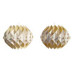 Mid Century Mexican Origami Pendants, fabric, 1950s
