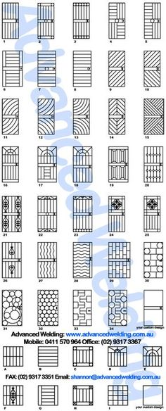If you are going to have a security door, at least it should be something nice to look at. Advanced Welding company's security door designs Source by Door Grill, Grill Door Design, Door Gate Design, Fence Design, Steel Grill Design, Window Grill Design Modern, House Gate Design, Metal Gates, Iron Gates