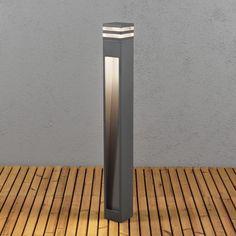 Moderne LED Wegeleuchte aus Aluminium in anthrazit und...