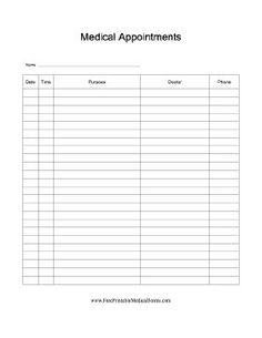 Blank medication administration record template susan medication administration record template see more a chart on which patients or their caregivers can track and record medical visits including pronofoot35fo Choice Image