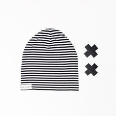Stripe Cotton knit Baby slouchy hat + modern slouchy beanie for babies + soft stretchy cotton knit fabric + perfect for a boy or a girl + double sided Slouchy Beanie, Cute Hats, Pom Pom Hat, Baby Accessories, Baby Hats, Baby Knitting, Baby Shower Gifts, Modern, Fabric