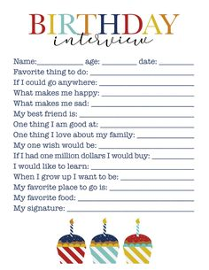 10 ways to make your childs birthday extra special & fun: birthday traditions with kids & free printables – McKinlay Design Happy 8th Birthday, Birthday Cards For Boys, Baby Birthday, Birthday Questions, Birthday Interview, Birthday Traditions, Happy Mom, Couple, Free Printables