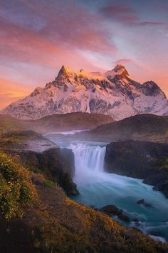 Looking Forever by Marc Adamus on Torres Del Paine and the Paine Grande Peaks at sunrise. Torres del Paine National Park is a national park encompassing mountains, glaciers, lakes, and rivers in southern Chilean Patagonia. Robinson Crusoe Island, Beautiful Waterfalls, Beautiful Landscapes, Places To Travel, Places To See, Parque Natural, Torres Del Paine National Park, Seen, Landscape Photographers