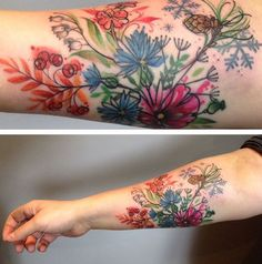 Summer Flowers Tattoo