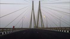 Driving in Mumbai (Bandra–Worli Sea Link) - Maharashtra, India Mumbai City, In Mumbai, Bandra Worli Sea Link, Cable Stayed Bridge, E Magazine, City That Never Sleeps, Travel Photography, India, Architecture