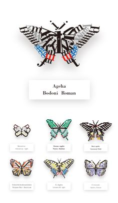 "These intriguing specimens were created by a 25-year old graphic design student who goes simply by the name, guusan. Uploaded to Japanese portfolio site loftwork earlier this month, the Japanese butterfly specimens are created from letters that belong to different type sets like Helvetica, Futura and Time New Roman. ""I imagined different fonts as butterflies and then created a specimen book based on that,"" said the designer in a statement."