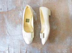 vintage 60s gold slippers