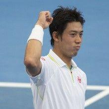 Kei Nishikori (JPN) Tennis - Brisbane International 2015 - Brisbane - ATP 250 - WTA -  Queensland Tennis Centre  - Australia - 2015