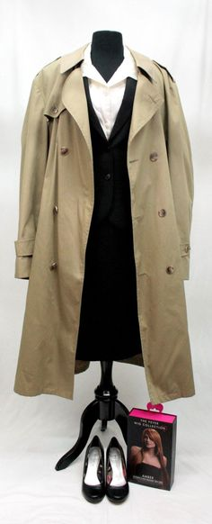 The X-Files Agent Dana Scully Costume Cosplay, 1990s Costume, 90s Fashion, Pantsuits, Trenchcoats, 90s Vintage, Dallas Costumes, Dallas Vintage, Mulder, It's me.