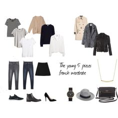 still need: Striped tee, camel cardigan, chelsea boots, wool coat, black leather bag, watch and fedora
