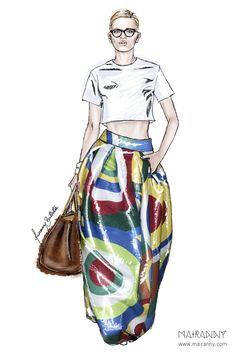 DSQUARED2 Spring/Summer 2015 Fashion Illustration by Mairanny Batista