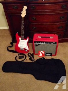 Fender Mini Electric Guitar with AMP and accessories - $220