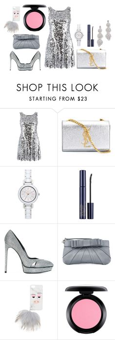 """Shinning Armors"" by hillarymaguire ❤ liked on Polyvore featuring Dolce&Gabbana, Yves Saint Laurent, DKNY, Estée Lauder, Love Moschino, Iphoria, MAC Cosmetics, Kate Spade, fabulous and fashionset"