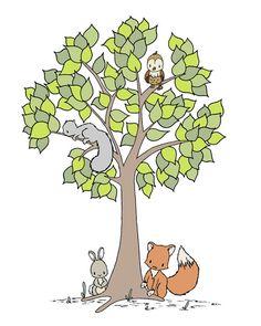 Woodland pépinière ArtLes bois sauvages par SweetMelodyDesigns