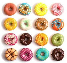 DONUTS! ONCE in my life, I have to try baking these instead of the regular fried ones! :D