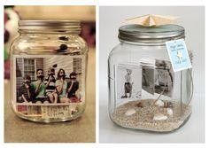 #Reutiliza los recipientes de cristal! Aquí una idea para crear unos originales portarretratos , increíble ¿no?