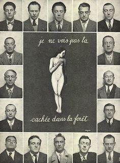 Parisian surrealists, including Tristan Tzara, Paul Eluard, André Breton, Luis Bunuel, René Magritte, Hans Arp, Salvadore Dali, Yves Tanguy, Max Ernst, René Crevel and Man Ray.