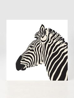 Zebra Printed on Bamboo Paper by Toast Slice on Gilt