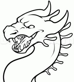 how to draw a simple dragon head step 8