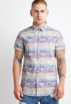 Abstract Print Shirt | 21 MEN | #f21men