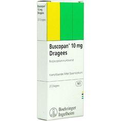 BUSCOPAN Dragees:   Packungsinhalt: 20 St Überzogene Tabletten PZN: 02350388 Hersteller: EurimPharm Arzneimittel GmbH Preis: 3,12 EUR…