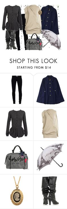 """""""Rainy Weather Outfit"""" by velvy ❤ liked on Polyvore featuring Religion Clothing, A.P.C., Moschino, Roland Mouret, Lanvin, eBags and STELLA McCARTNEY"""